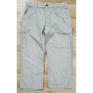 Carhartt Mens Canvas Work Dungaree Tan Pants 34